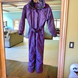 Fila women's sz 8 purple/ black snow ski suit